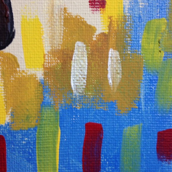 Close-Up 3 Portrait of a Woman- Tribute to Maurice de Vlaminck Linda Cleary 2014 Acrylic on Canvas