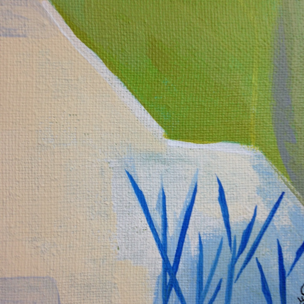 Close-Up 3 Mountain- Tribute to Kenzo Okada Linda Cleary 2014 Acrylic on Canvas