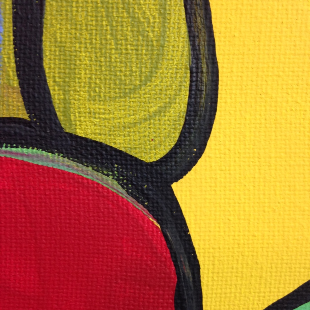Close-Up 3 Untitled 142- Tribute to Bram Van Velde Linda Cleary 2014 Acrylic on Canvas
