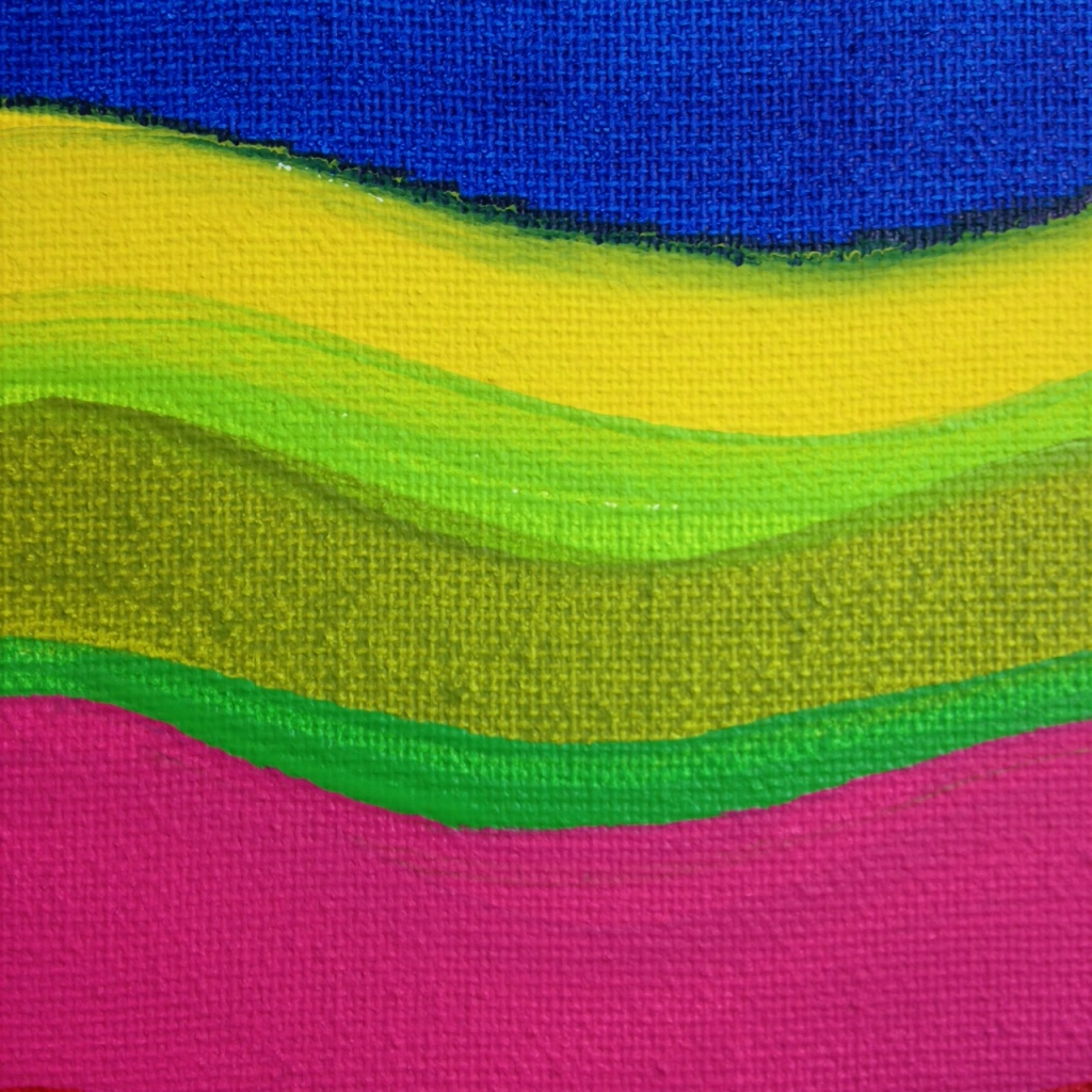 Close-Up 3 Summer Stache- Tribute to Pat Lipsky Linda Cleary 2014 Acrylic on Canvas