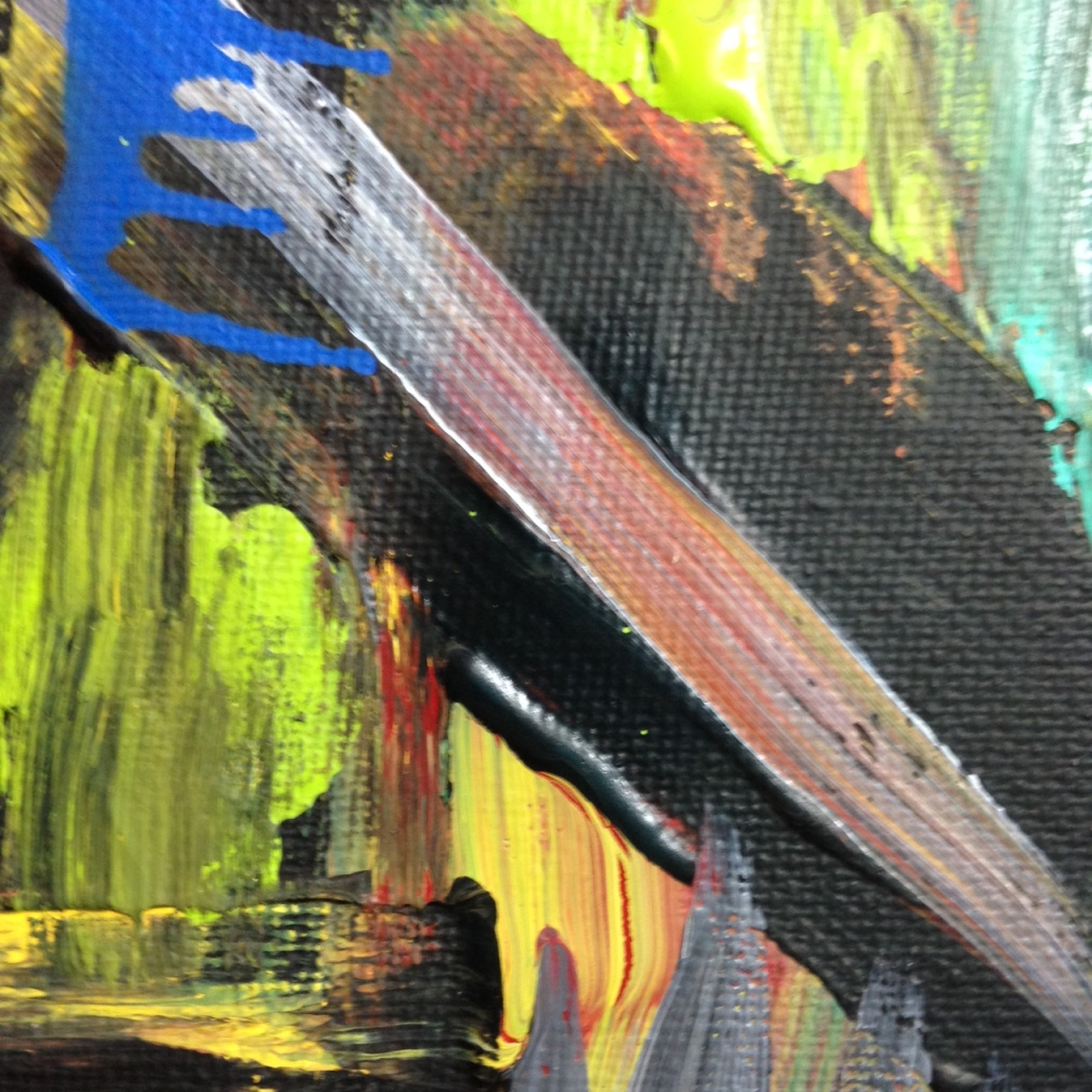 Close-Up 3 Feel the Pain- Tribute to Louise Fishman Linda Cleary 2014 Acrylic on Canvas