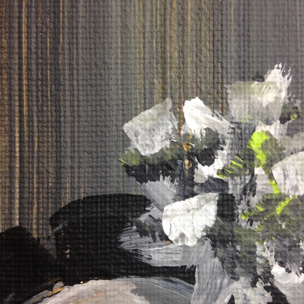Close-Up 3 Like Mother Like Daughter- Tribute to Eva Hesse Linda Cleary 2014 Acrylic on Canvas
