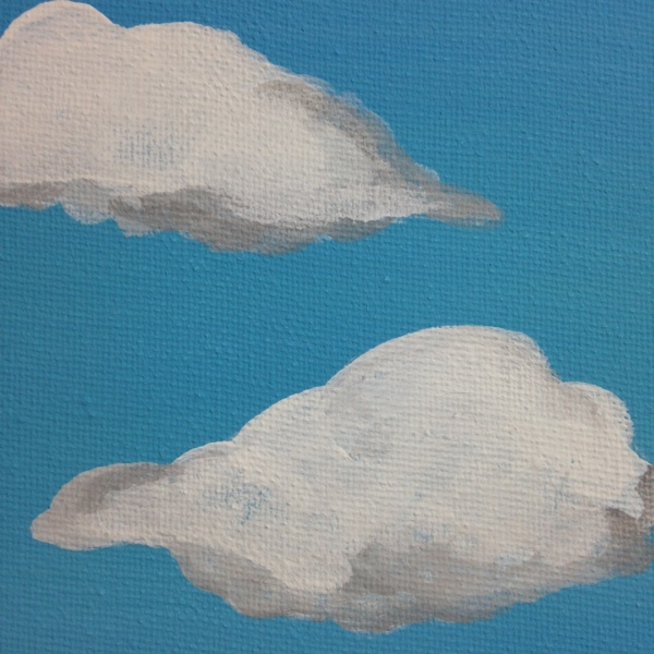 Close-Up 3 The Elusive Mystery- Tribute to Rene Magritte Linda Cleary 2014 Acrylic on Canvas