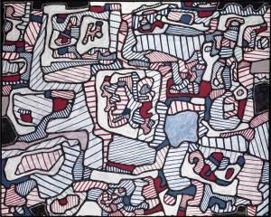 Jean Dubuffet. Site Inhabited by Objects 1965
