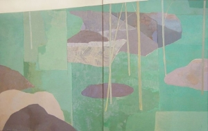 Young Bamboo Diptych- Kenzo Okada