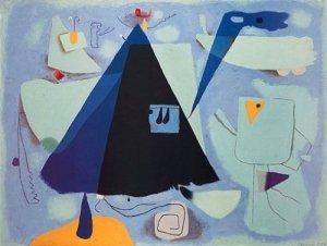 Das schwarze Zelt by Willi Baumeister