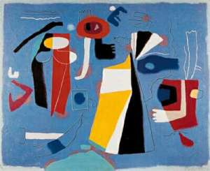 Composition in Blue- Willi Baumeister