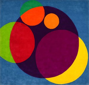 Chromatic Circles - Wool-Pile Wall Hanging by Herbert Bayer