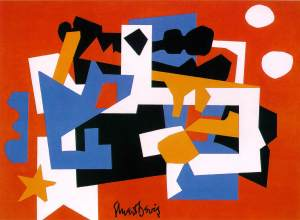 Colonial Cubism  1954 (90 Kb); Oil on canvas, 44 7/8 x 60 1/8 in; Walker Art Center, Minneapolis, Minnesota