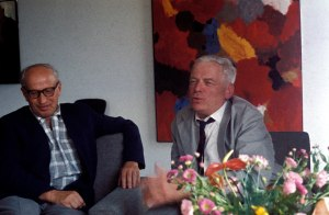 Ernst Wilhelm Nay on the right. 1960