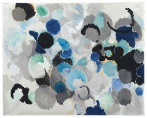 Ernst Wilhelm Nay, Mit heiterem Blau, 1956