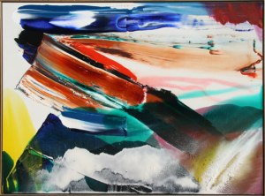 Artist: Paul Jenkins, American Title: Phenomena Tandor Landing Year: 1980