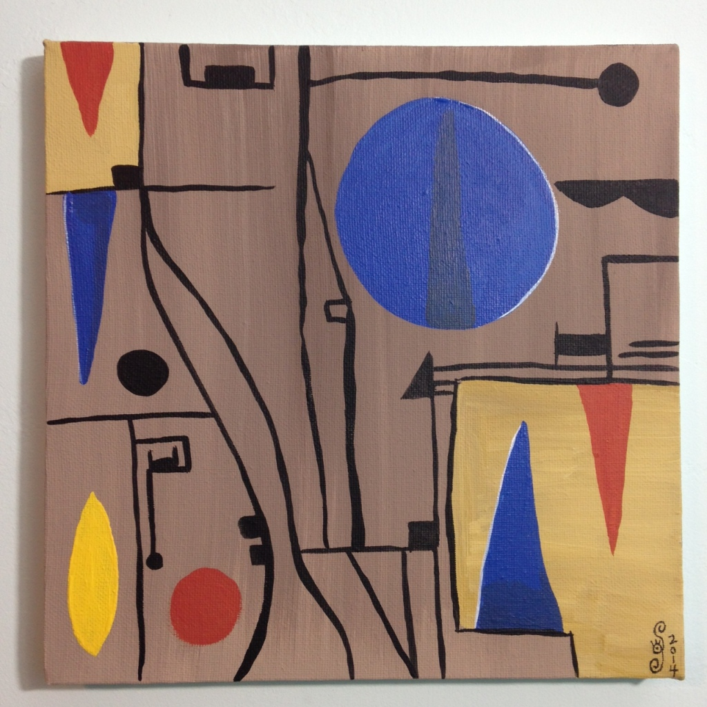 Composition 153- Tribute to Gustave Singier Linda Cleary 2014 Acrylic on Canvas