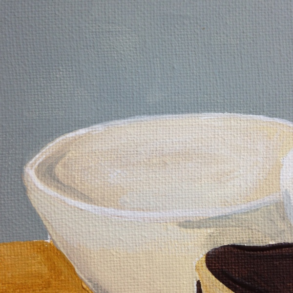 Close-Up 1 Natura Morta I- Tribute to Giorgio Morandi Linda Cleary 2014 Acrylic on Canvas
