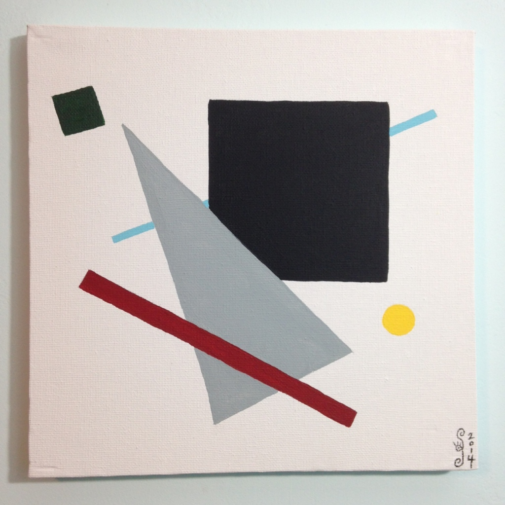 Suprematist- Tribute to Kazimir Malevich Linda Cleary 2014 Acrylic on Canvas