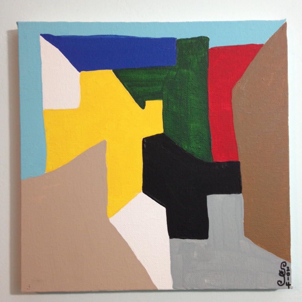 Composition 167- Tribute to Serge Poliakoff Linda Cleary 2014 Acrylic on Canvas