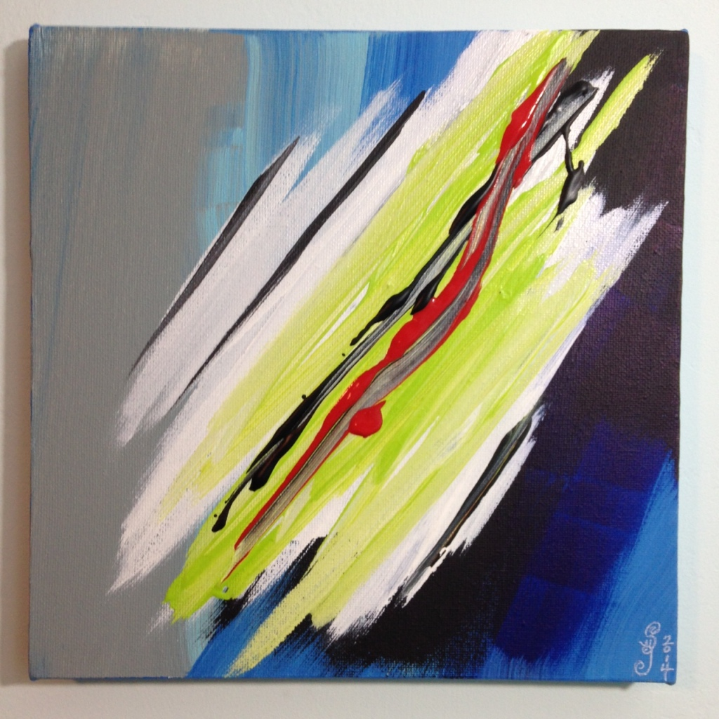 Bonheur- Tribute to Pierre Fichet Linda Cleary 2014 Acrylic on Canvas