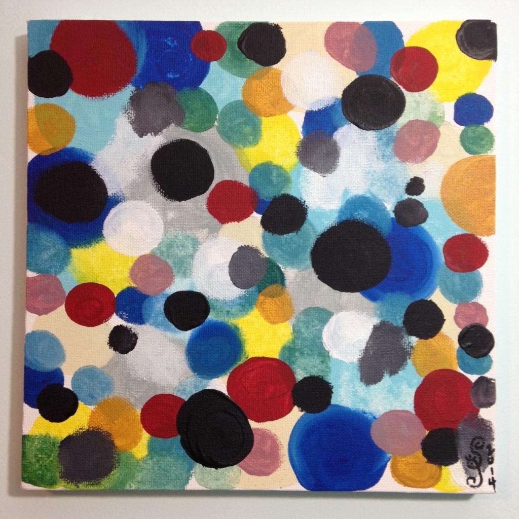 Glücklich Farbigen Formen- Tribute to Ernst Wilhelm Nay Linda Cleary 2014 Acrylic on Canvas