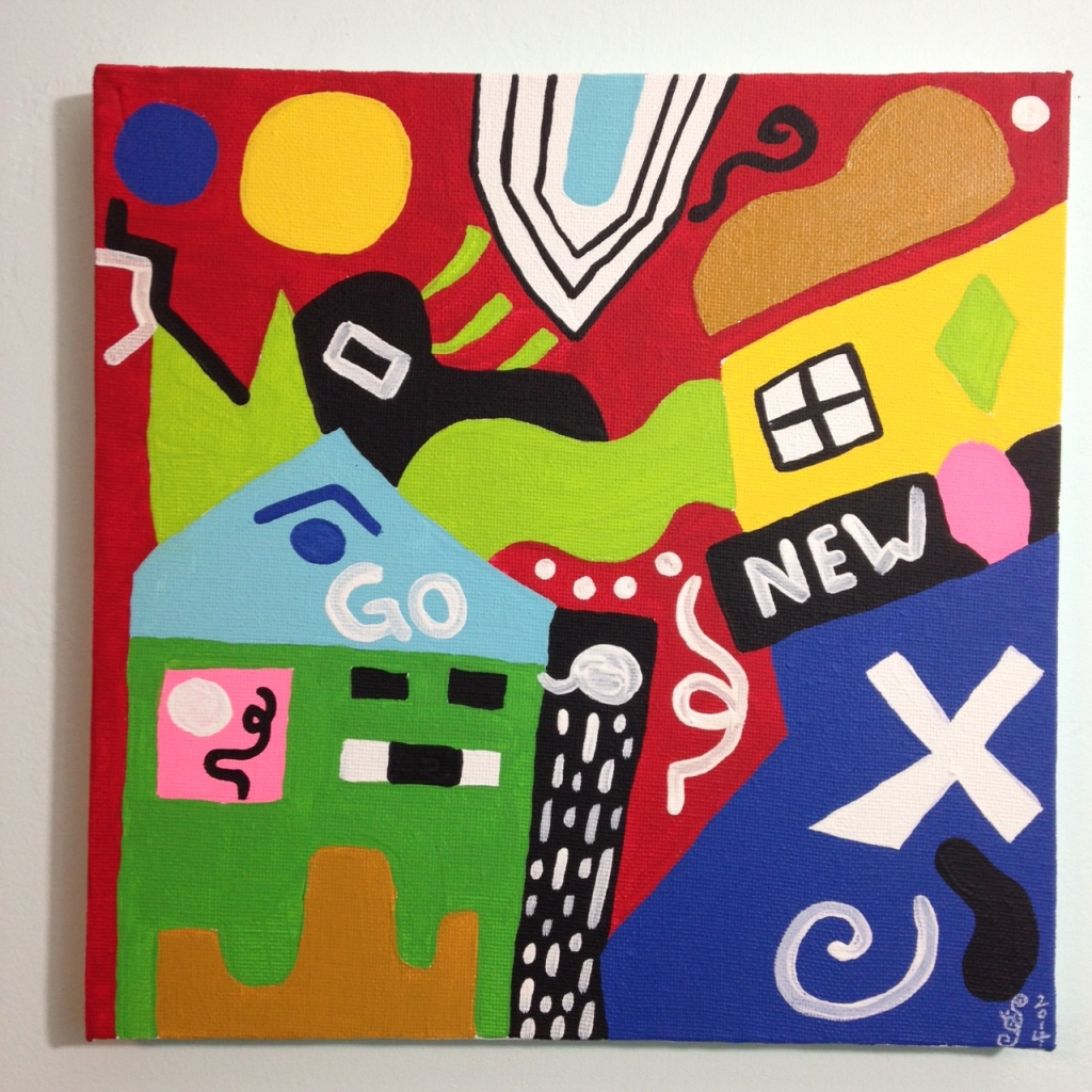 Go- Tribute to Stuart Davis Linda Cleary 2014 Acrylic on Canvas