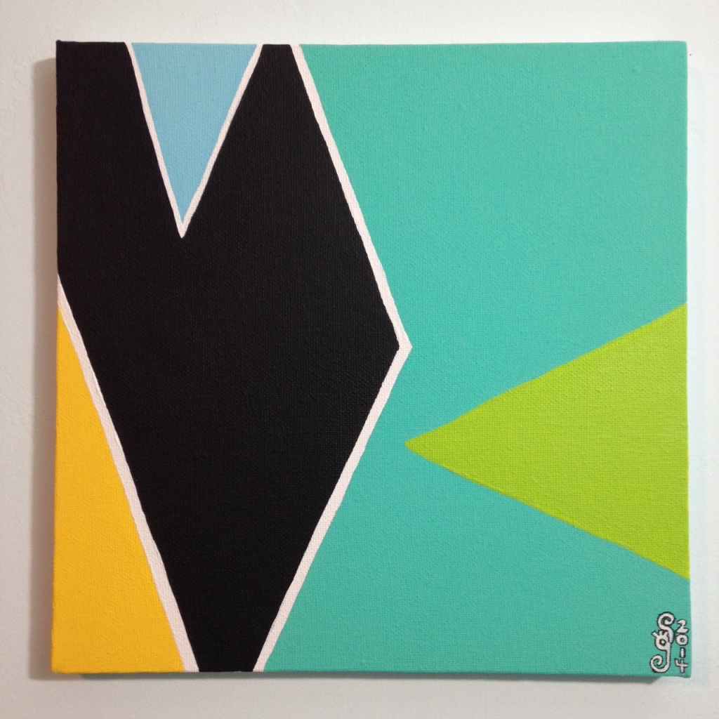 Untitled 176- Tribute to Larry Zox Linda Cleary 2014 Acrylic on Canvas