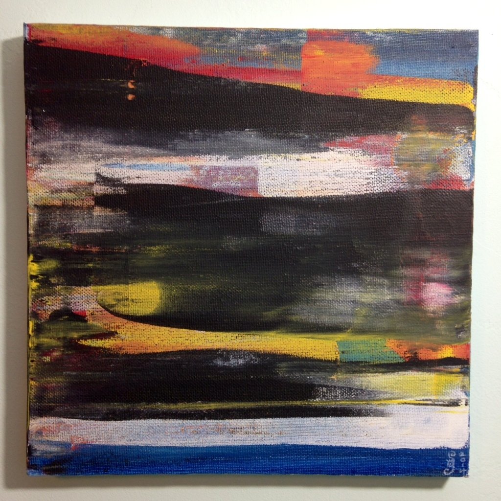 Abstract Blur- Tribute to Gerhard Richter Linda Cleary 2014 Acrylic on Canvas