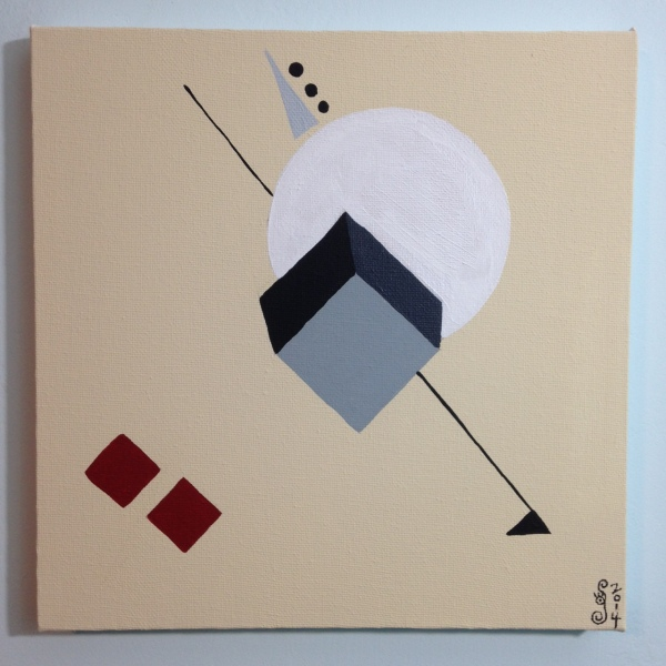 The Shape of Things- Tribute to El Lissitzky Linda Cleary 2014 Acrylic on Canvas