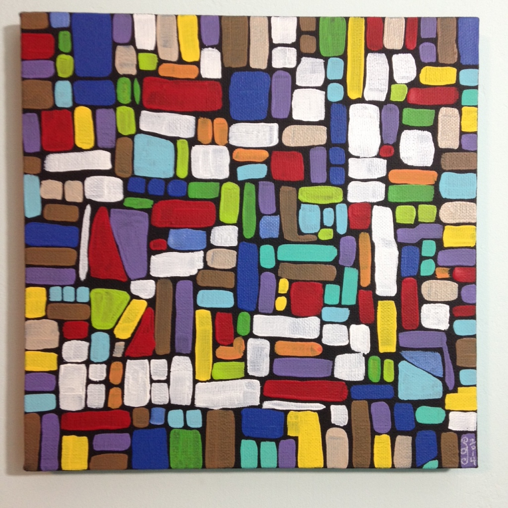 Composition 159- Tribute to Roger Bissiere Linda Cleary 2014 Acrylic on Canvas