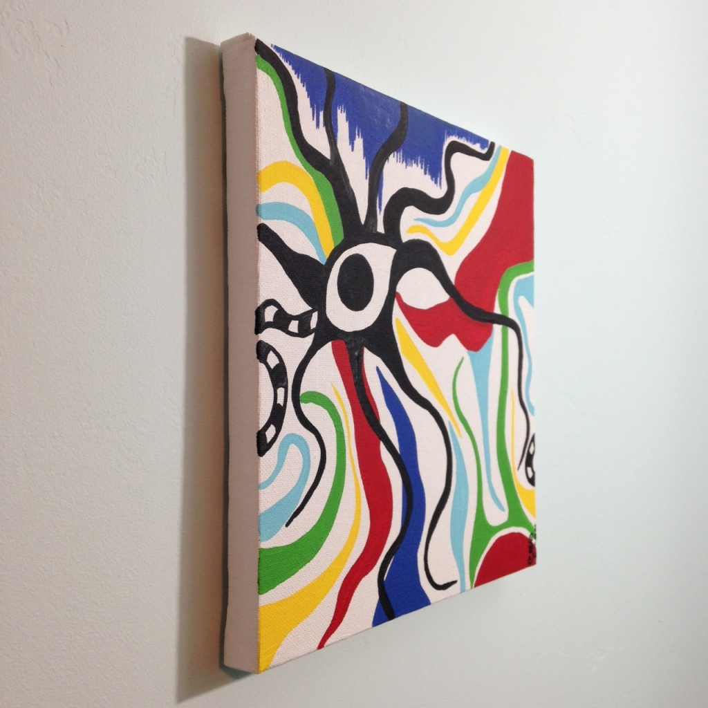 Side-View Eye of the Future- Tribute to Taro Okamoto Linda Cleary 2014 Acrylic on Canvas