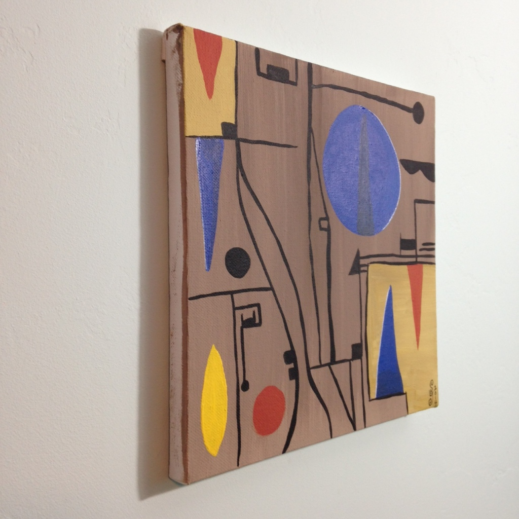 Side-View Composition 153- Tribute to Gustave Singier Linda Cleary 2014 Acrylic on Canvas