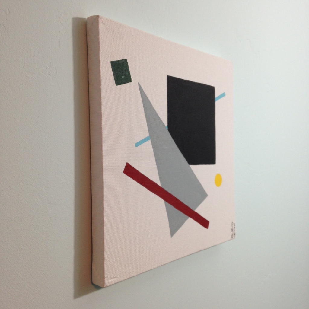 Side-View Suprematist- Tribute to Kazimir Malevich Linda Cleary 2014 Acrylic on Canvas