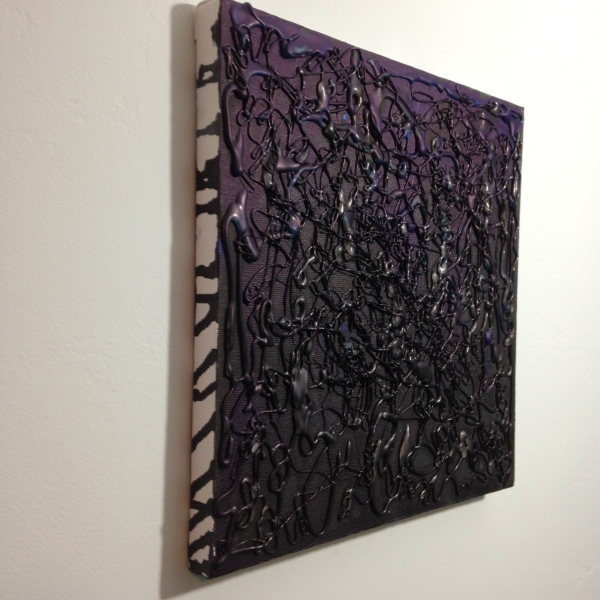 Side-View Shunkan- Tribute to Takesada Matsutani Linda Cleary 2014 Hot Glue, Acrylic Paint on Canvas