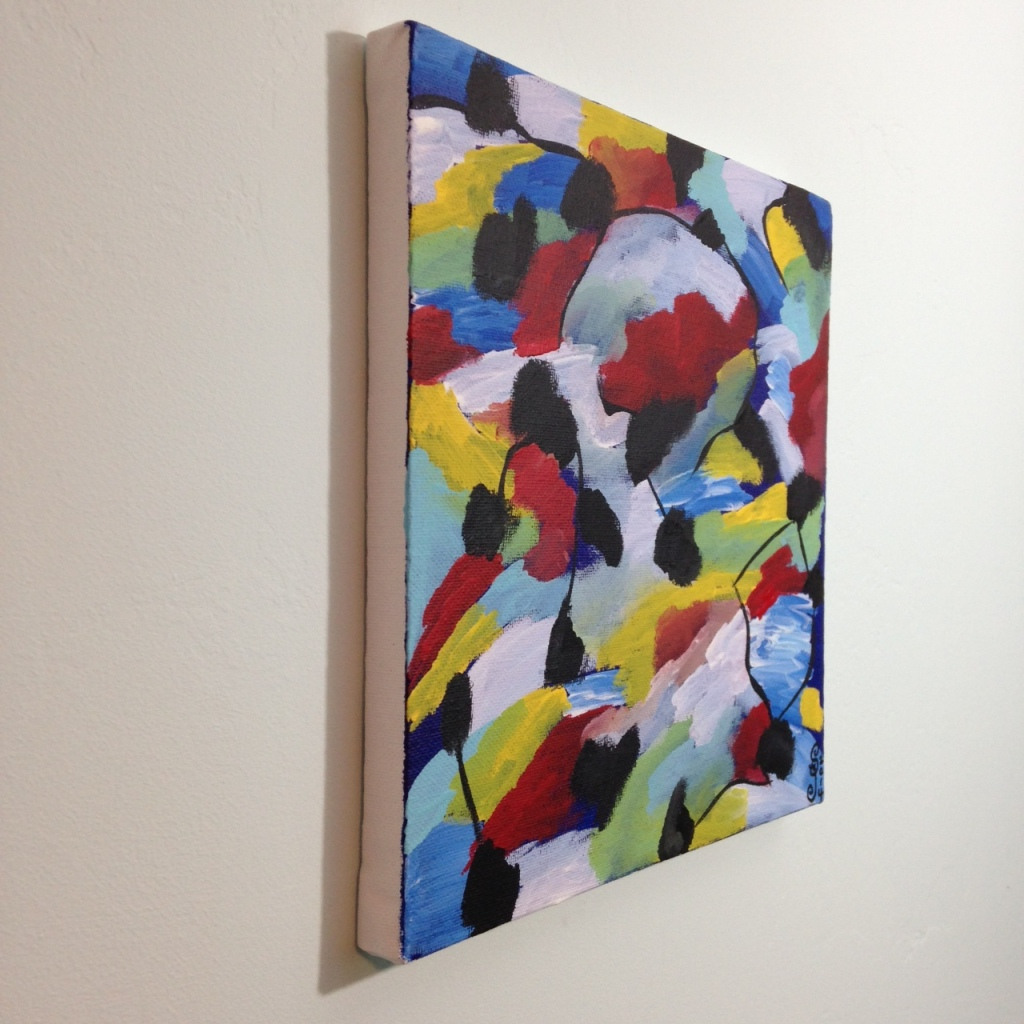 Side-View Bleus de Printemps- Tribute to Jean Le Moal Linda Cleary 2014 Acrylic on Canvas