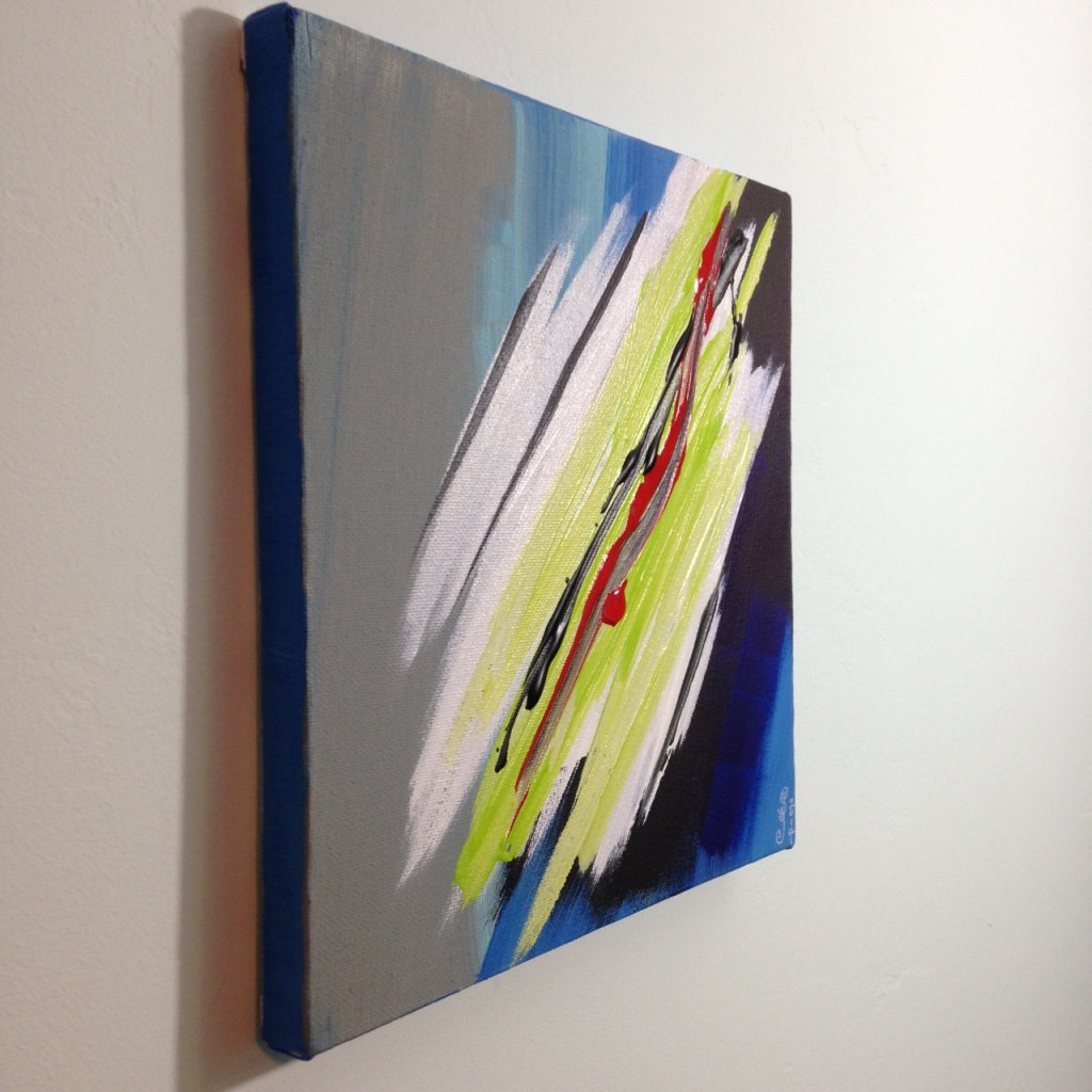 Side-View Bonheur- Tribute to Pierre Fichet Linda Cleary 2014 Acrylic on Canvas