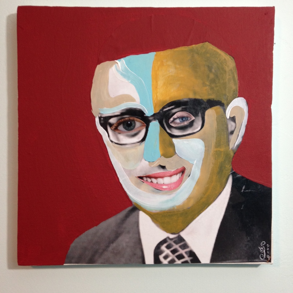 You Got That Kissinger Smile- Tribute to Richard Hamilton Linda Cleary 2014 Mixed Media on Canvas