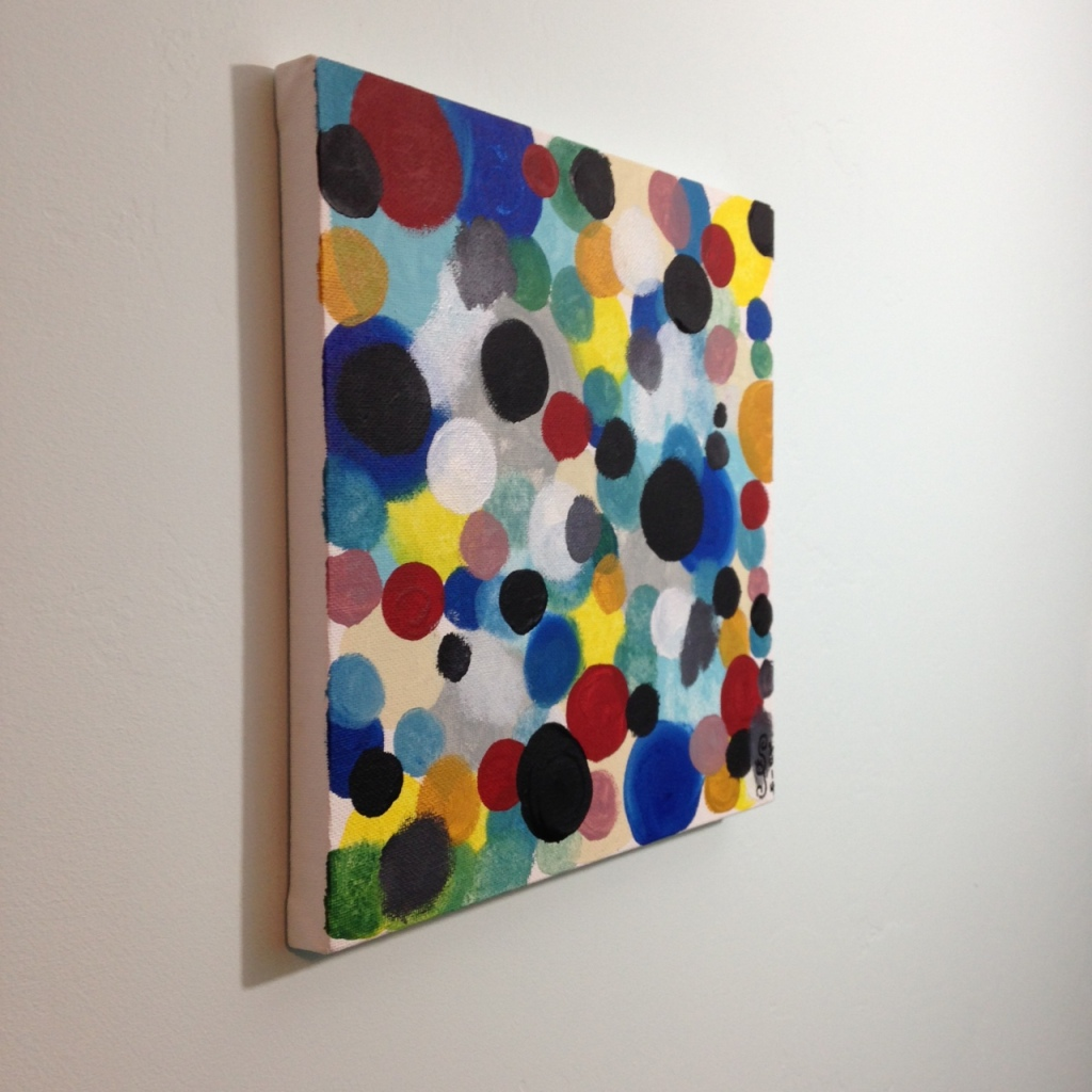 Side-View Glücklich Farbigen Formen- Tribute to Ernst Wilhelm Nay Linda Cleary 2014 Acrylic on Canvas