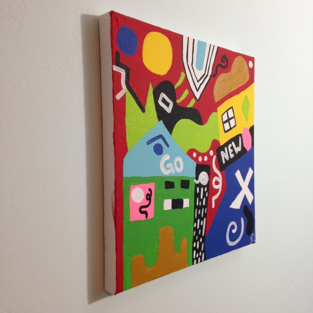 Side-View Go- Tribute to Stuart Davis Linda Cleary 2014 Acrylic on Canvas
