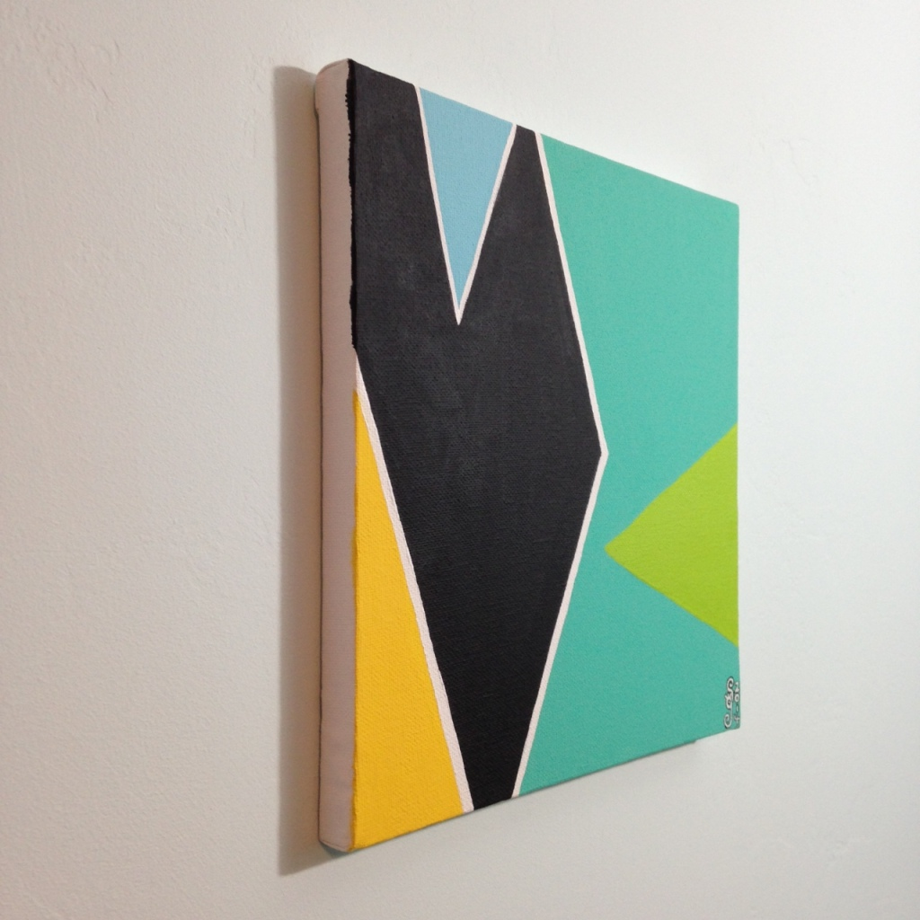 Side-View Untitled 176- Tribute to Larry Zox Linda Cleary 2014 Acrylic on Canvas