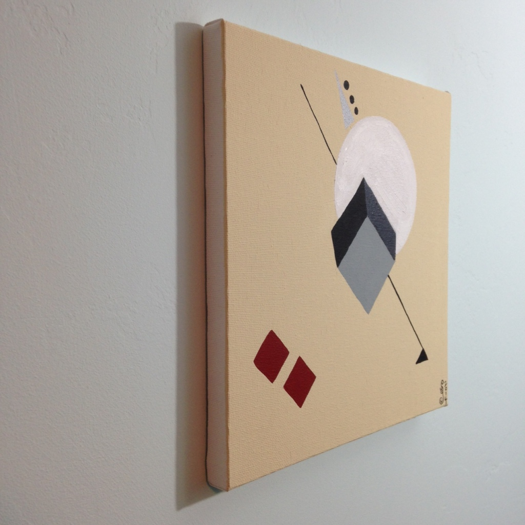 Side-View The Shape of Things- Tribute to El Lissitzky Linda Cleary 2014 Acrylic on Canvas