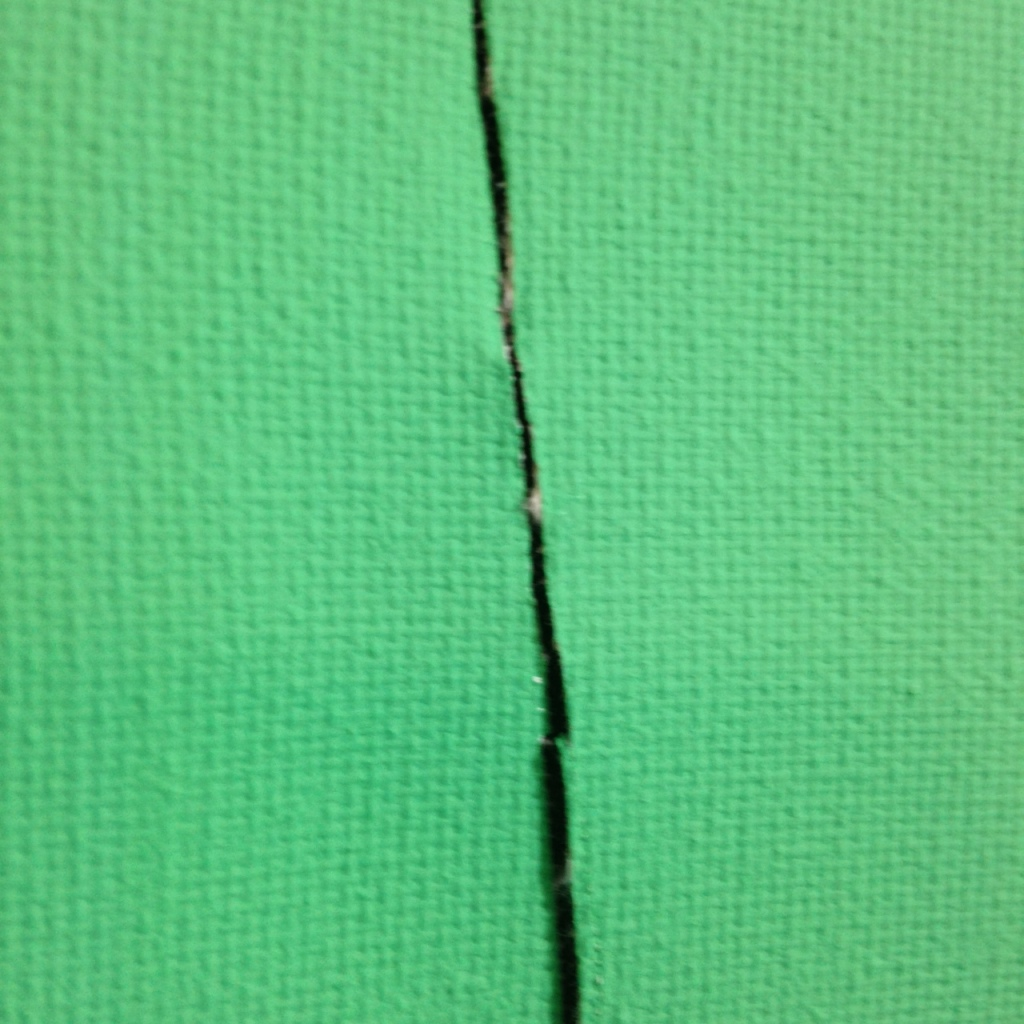 Close-Up 3 Remain Calm- Tribute to Lucio Fontana Linda Cleary 2014 Acrylic on Canvas