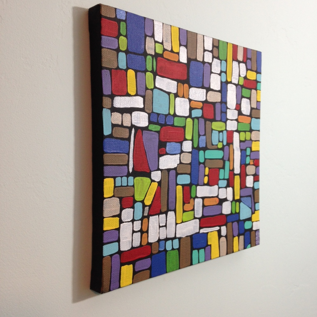 Side-View Composition 159- Tribute to Roger Bissiere Linda Cleary 2014 Acrylic on Canvas