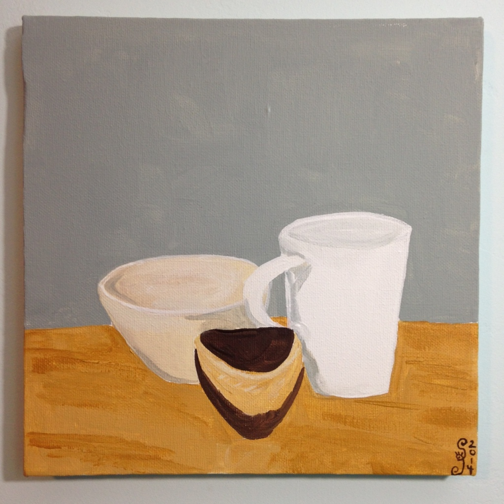 Natura Morta I- Tribute to Giorgio Morandi Linda Cleary 2014 Acrylic on Canvas
