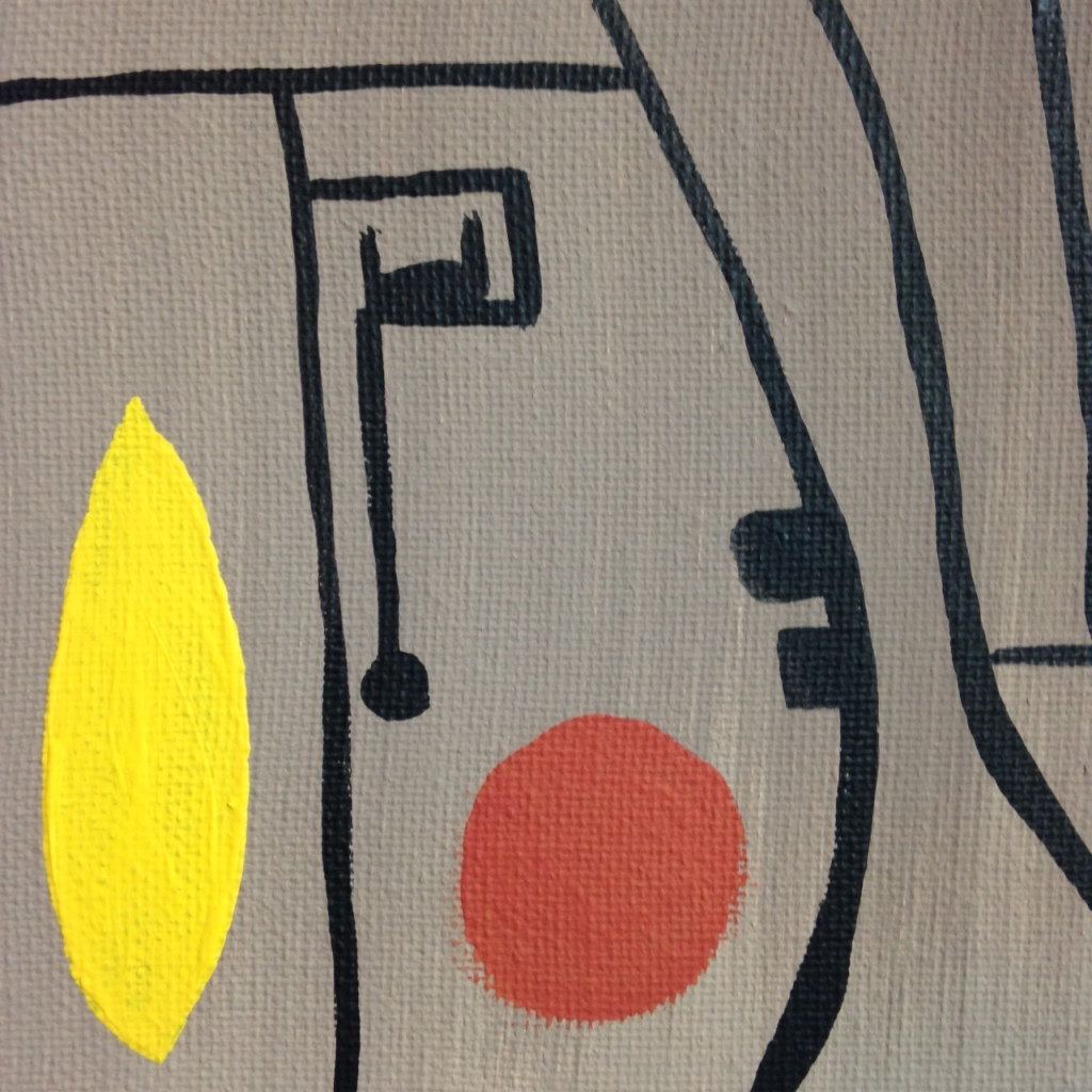 Close-Up 1 Composition 153- Tribute to Gustave Singier Linda Cleary 2014 Acrylic on Canvas