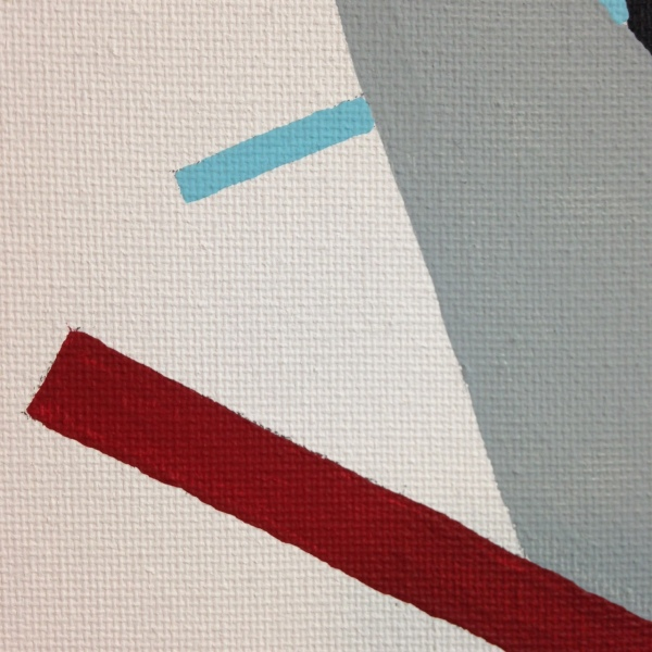 Close-Up 1 Suprematist- Tribute to Kazimir Malevich Linda Cleary 2014 Acrylic on Canvas