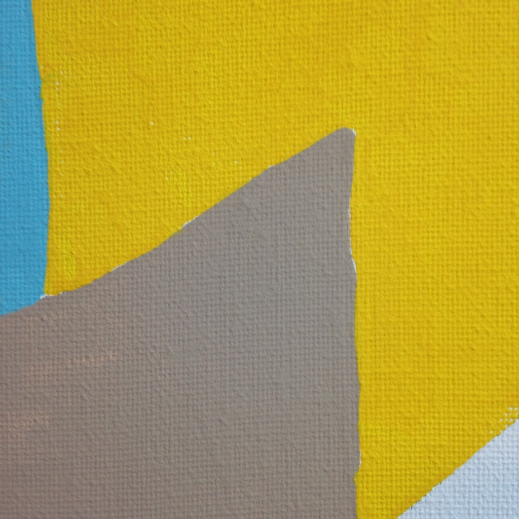 Close-Up 1 Composition 167- Tribute to Serge Poliakoff Linda Cleary 2014 Acrylic on Canvas