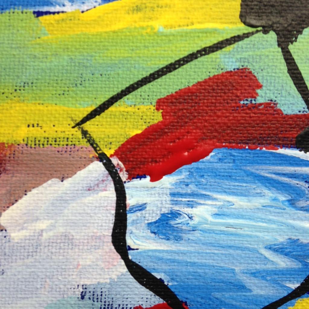 Close-Up 1 Bleus de Printemps- Tribute to Jean Le Moal Linda Cleary 2014 Acrylic on Canvas