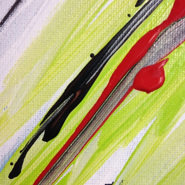Close-Up 1 Bonheur- Tribute to Pierre Fichet Linda Cleary 2014 Acrylic on Canvas