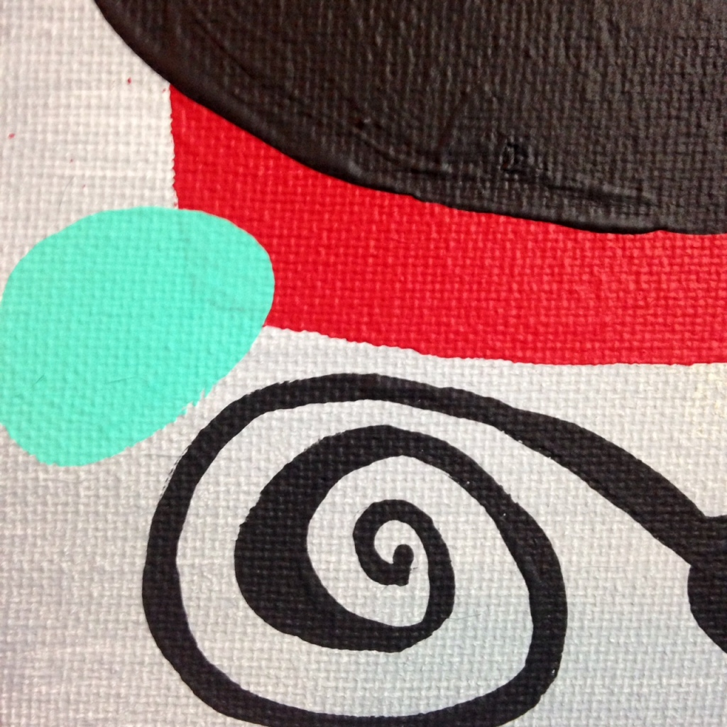 Close-Up 1 Phantom!- Tribute to Willi Baumeister Linda Cleary 2014 Acrylic on canvas