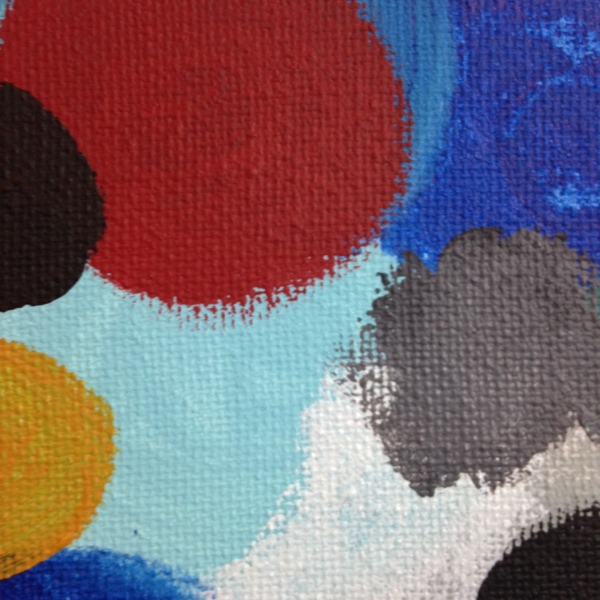 Close-Up 1 Glücklich Farbigen Formen- Tribute to Ernst Wilhelm Nay Linda Cleary 2014 Acrylic on Canvas