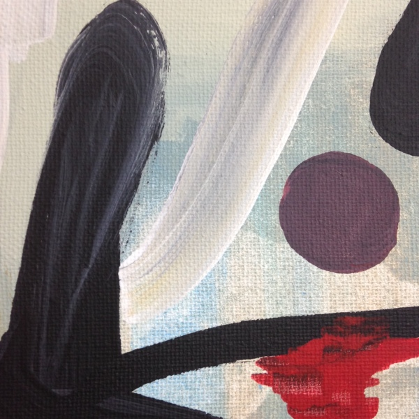 Close-Up 1 Daylight- Tribute to James Brooks Linda Cleary 2014 Acrylic on Canvas