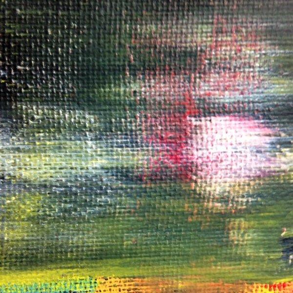 Close-Up 1 Abstract Blur- Tribute to Gerhard Richter Linda Cleary 2014 Acrylic on Canvas